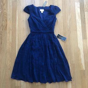 J. Crew Silk V-Neck Cap Sleeve Dress - Sz 00